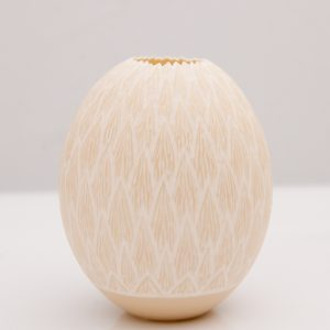 Hand carved Ostrich Egg Lights